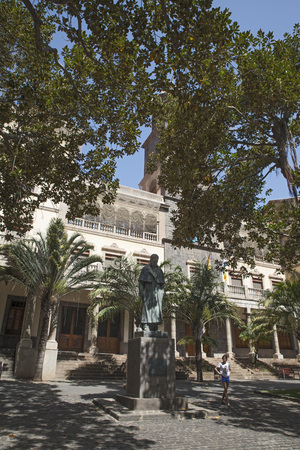 santa cruz de tenerife: SANTA CRUZ, TENERIFE, SPAIN - JUNE 21, 2015: Jose Murphy statue located in the Plaza de San Francisco in Santa Cruz de Tenerife. Editorial