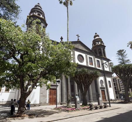 cristobal: LA LAGUNA, TENERIFE, SPAIN - JUNE 15, 2015: Catedral  in town San Cristobal de la Laguna of Tenerife island, Canary Islands. San Cristobal de la Laguna is World Heritage Site by UNESCO