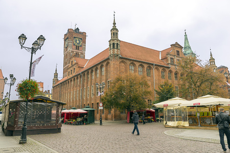 mediaeval: TORUN, POLAND - OCTOBER 23, 2014: The mediaeval town, birthplace of Nicolaus Copernicus, is listed among the UNESCO World Heritage Sites.
