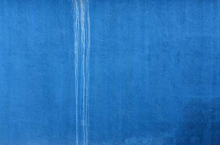 blue wall: Blue Wall with white trickle. Horizontal.  Background