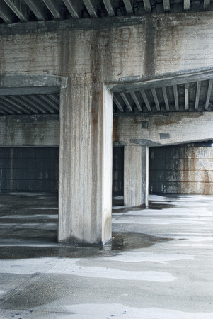 insecure: A disturbing, wet and dirty empty parking