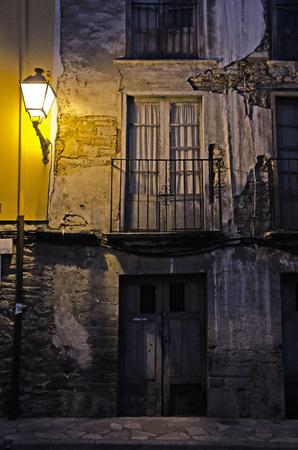 illuminating: streetlight illuminating ruined