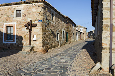 way of st  james: Castrillo de los Polvazares is a village situated in Leon, in North-west of Spain. it is one of the few places of the Maragateria which still keeps its traditions It is located at The Way of St. James