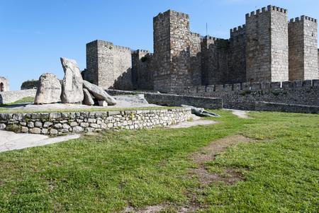 extremadura: Medieval castle in Trujillo, Extremadura, Spain.