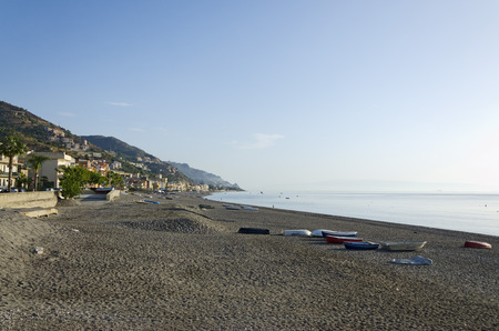 with no one: Sicilian beach at sunrise with no one