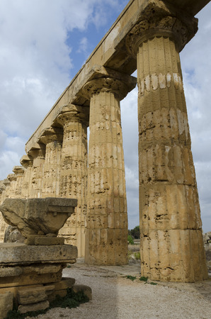 greek temple: columns of a Greek temple in Selinunte, Sicily Stock Photo