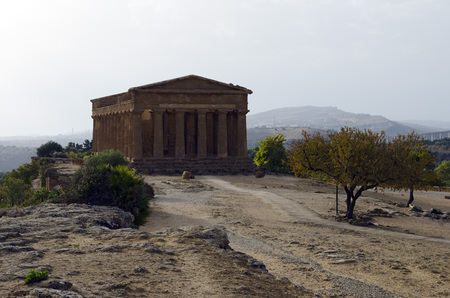 agrigento: Concordia Temple, Valley of temples, Agrigento, Sicily Stock Photo