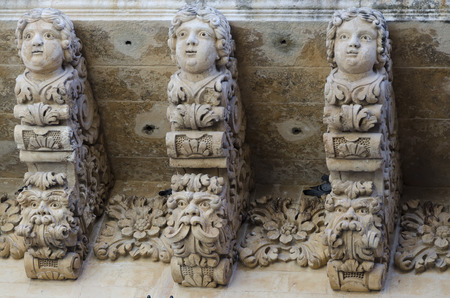corbel: corbel sculpted in the Sicilian town of Noto
