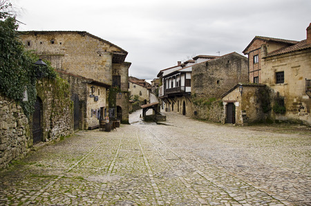 stone of destiny: Santillana del Mar, a medieval town in the region of Cantabria, in northern Spain