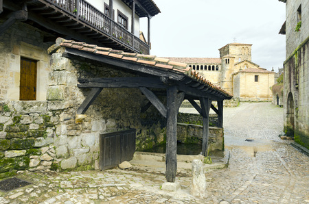 stone of destiny: Laundry and drinking trough for cattle in Santillana del Mar, Spain