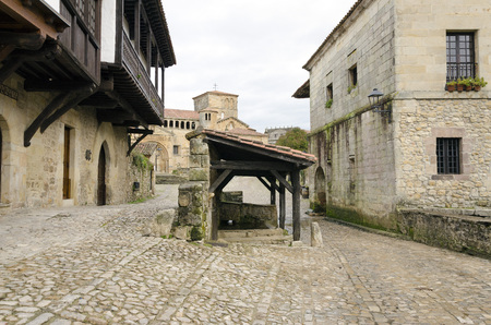 patrimony: Laundry and drinking trough for cattle in Santillana del Mar, Spain
