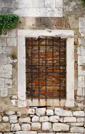 urbanscape: bricked up window in Zadar, Croatia