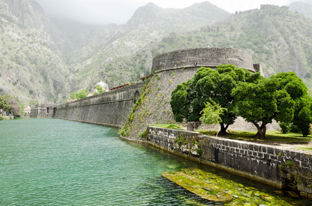 fortifications: The ancient Venetian fortifications of Kotor