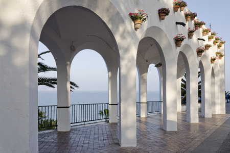simetry: Beautiful architectural feature in Nerja ,Spain. Also known as Balcon de Europa