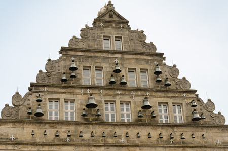 pediment: The Wedding House in Hameln (Germany)