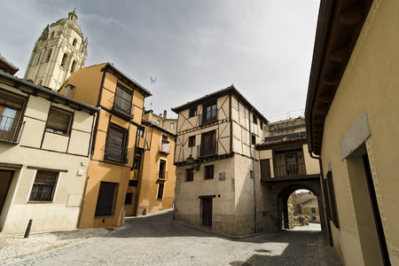 jewry: View of the cathedral from the old city. Segovia, Spain