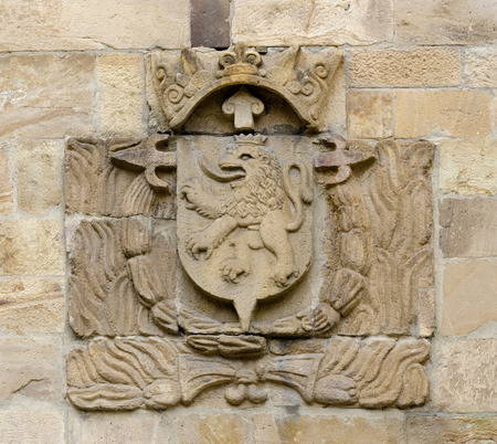 city coat of arms: Coat of arms of the city of Leon. The arms are canting; Leon means lion in Spanish. Actually, the original name of the city was Legio, i.e. legion, for the Roman legion (VII Gemina) who founded the city.