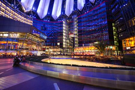 sony: Sony commercial center in Postdamar Platz at night Editorial