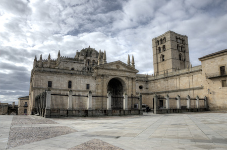 zamora: Cathedral of Zamora, Spain. Its architecture is Romanesque Stock Photo