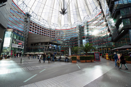 sony: The Sony Center is a building complex. Ensemble of buildings at Potsdamer Platz in the heart of the German capital, one of the symbols of the new Berlin.