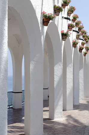 architectural feature: Beautiful architectural feature in Nerja ,Spain. Also known as Balcon de Europa
