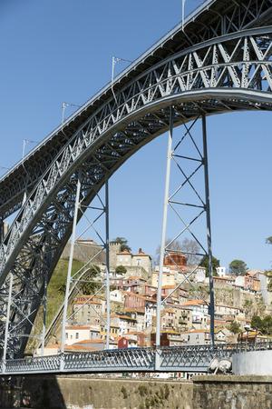 dom: Dom Luis I bridge, Oporto, Portugal Stock Photo