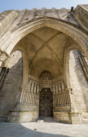 consecrated: Tuy cathedral,  The building was consecrated in 1225 AD during the monarchy of King Alfonso, but building work started over a century earlier.