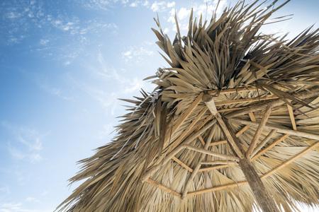 varadero: beach umbrella in Varadero, Cuba