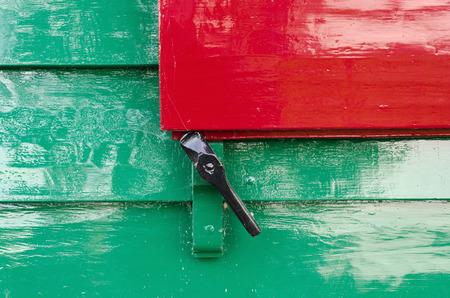 zaanse: Detail van een venster schuur, Zaanse Schans, Holland Stockfoto