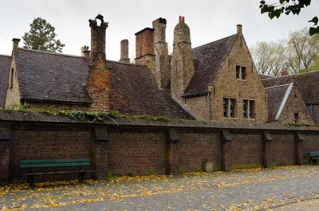 bruges: typical medieval buildings, Bruges Stock Photo