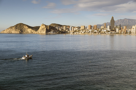 costa blanca: The skyline of Benidorm on the costa Blanca