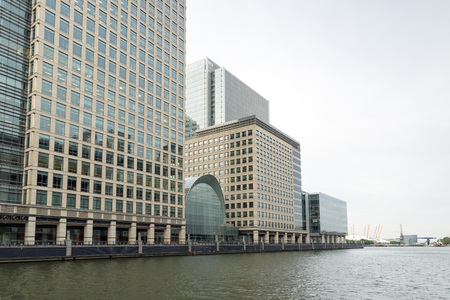 docklands: Canary Wharf Docklands London Stock Photo