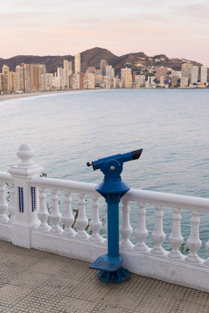 viewpoints: Benidorm bay as seen from one of its landmark viewpoints Stock Photo