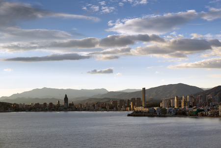 blanca: The skyline of Benidorm on the costa Blanca