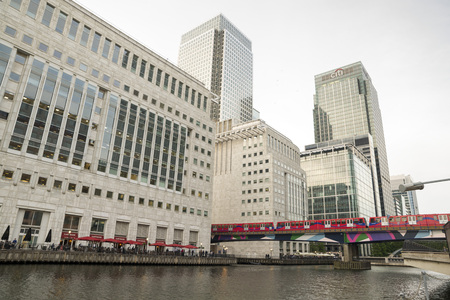 hamlets: Canary Wharf is built on the site of the West India docks in the east of London.  Editorial