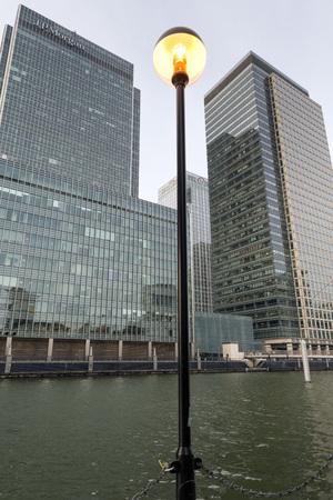 wharf: Canary Wharf Docklands London Stock Photo