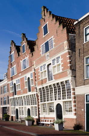 hoorn: Old house on the habour of the Dutch historic town Hoorn