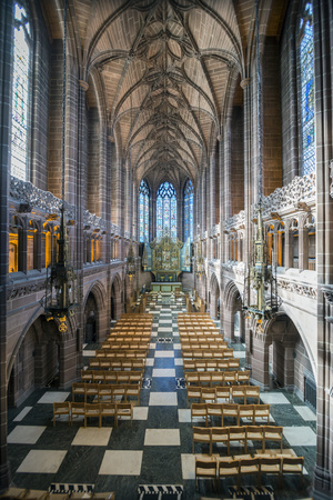 female likeness: Inside the anglican cathedral in Liverpool Lady Chapel