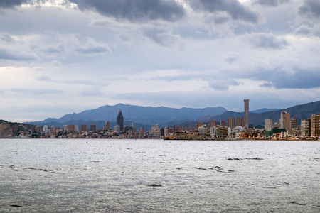 mediterranean countries: The skyline of Benidorm on the costa Blanca