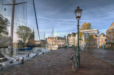hoorn: Harbour in Hoorn, Netherlands Holland Europe Stock Photo