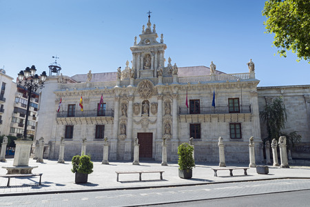 allegory painting: Baroque facade of the University of Valladolid Editorial