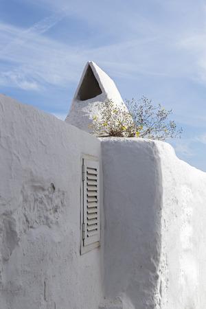 whitewashed: whitewashed wall in Ibiza Island