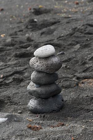 black stones: black stones stacked