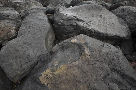 volcanic stones: Black volcanic stones on Canary Islands
