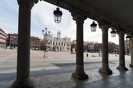 city hall: The Plaza Mayor and the city hall of Valladolid, Spain
