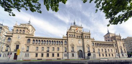 cavalry: Cavalry Academy in Paseo de Zorrilla, Valladolid, Spain. panorama