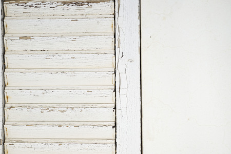 whitewashed: white door on a whitewashed wall Stock Photo