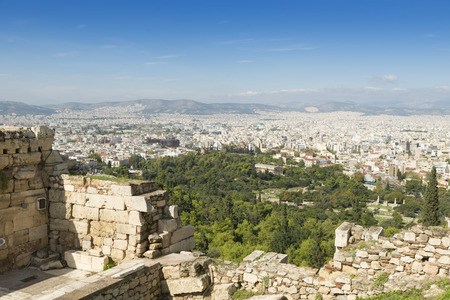 overpopulation: View of Athens from the Acropolis