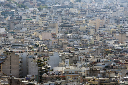 variegated: Variegated view of Athens from the Acropolis,