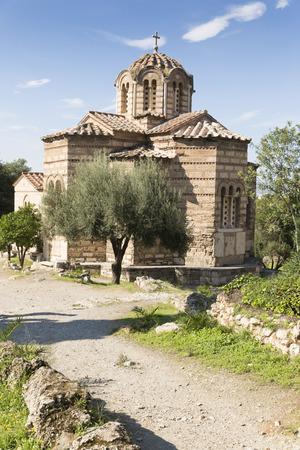 apostles: The byzantine church of the Holy Apostles of Solaki in the Ancient Agora of Athens, Greece.